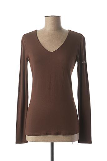 T-shirt manches longues marron NANA BAILA pour femme