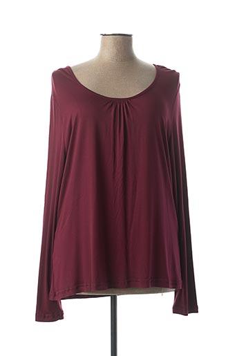 T-shirt manches longues violet UN TEMPS POUR ELLE pour femme
