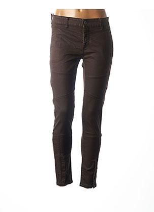 Pantalon 7/8 marron COUTURIST pour femme