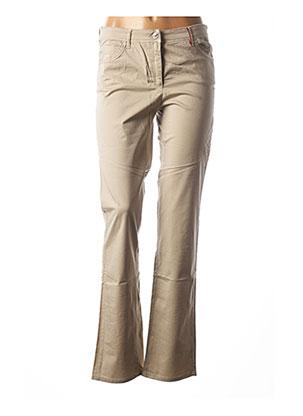 Jeans coupe droite beige COUTURIST pour femme