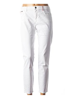 Pantalon 7/8 blanc COUTURIST pour femme