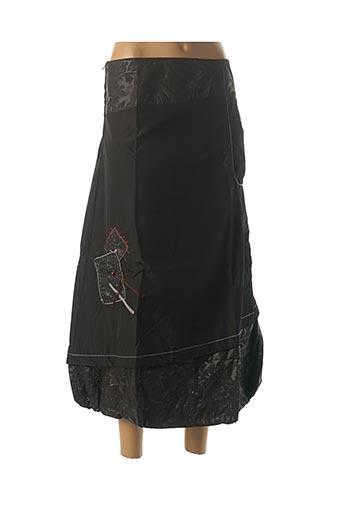 Jupe mi-longue noir VIRGINIE & MOI pour femme