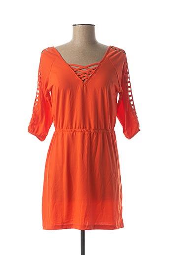 Robe courte orange VIRGINIE & MOI pour femme