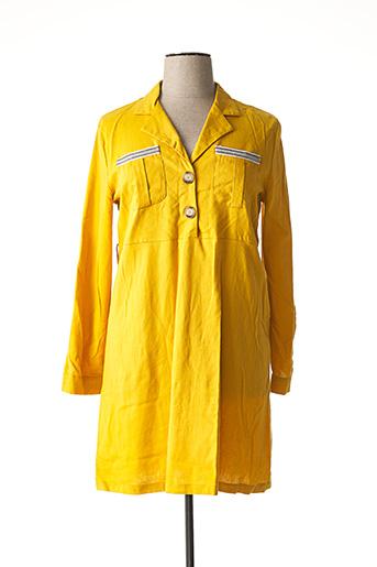 Robe mi-longue jaune CHIC ETJEUNE pour femme