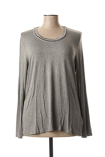 T-shirt manches longues gris ELENA MIRO pour femme