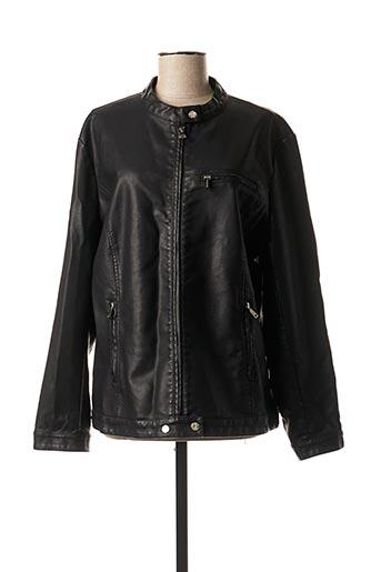 Veste simili cuir noir ELYNE pour femme