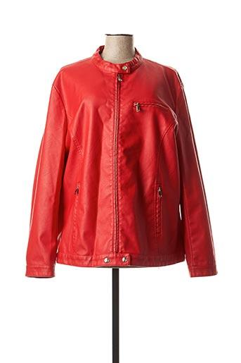 Veste simili cuir rouge ELYNE pour femme