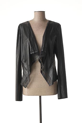 Veste simili cuir noir RINASCIMENTO pour femme