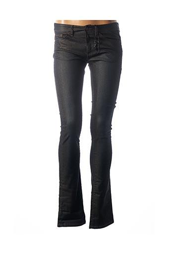 Jeans coupe slim gris IKKS pour femme