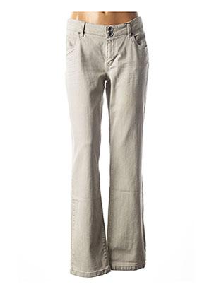 Jeans coupe droite gris IKKS pour femme