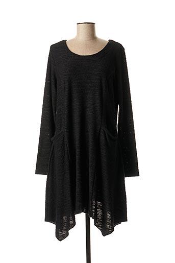 Pull tunique noir LUUKAA pour femme