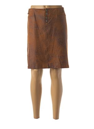 Jupe mi-longue marron FUEGO WOMAN pour femme