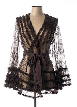 Robe de chambre marron MARJOLAINE pour femme