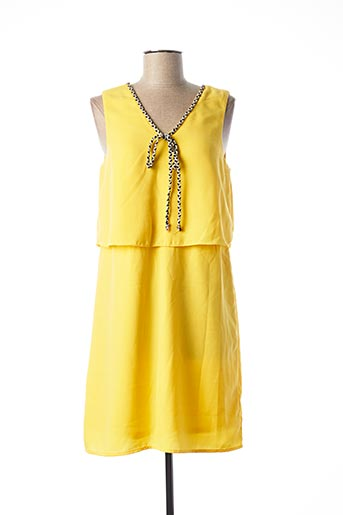 Robe mi-longue jaune VERO MODA pour femme