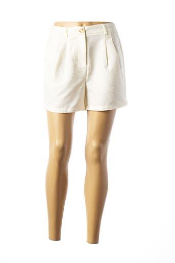 Short beige PIECES pour femme