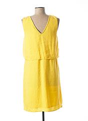 Robe mi-longue jaune VERO MODA pour femme seconde vue