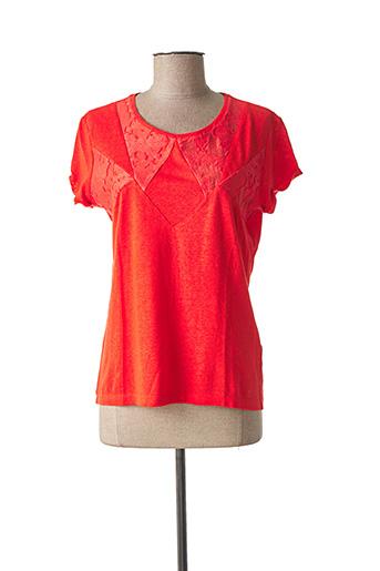 T-shirt manches courtes orange ONE STEP pour femme