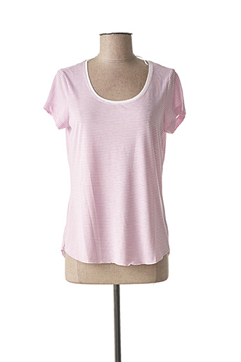 T-shirt manches courtes rose SANDWICH pour femme