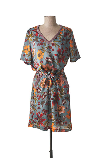 Robe mi-longue bleu VOODOO pour femme