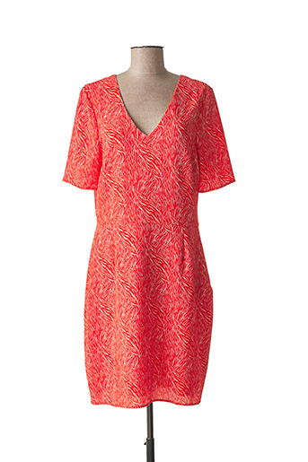 Robe mi-longue orange ONE STEP pour femme
