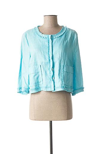 Veste casual bleu CINOCHE pour femme