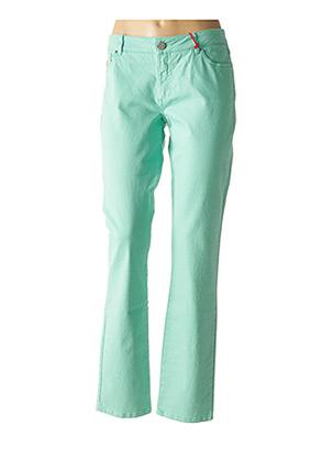 Jeans coupe droite vert IKKS pour femme