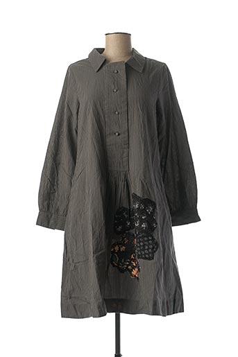 Robe mi-longue gris RHUM RAISIN pour femme