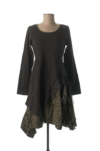 Robe mi-longue vert RHUM RAISIN pour femme
