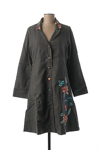Manteau long gris RHUM RAISIN pour femme
