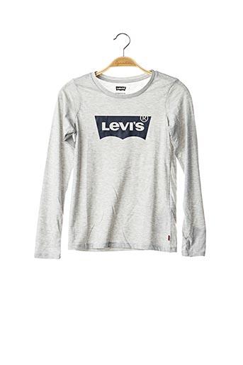 T-shirt manches longues gris LEVIS pour fille