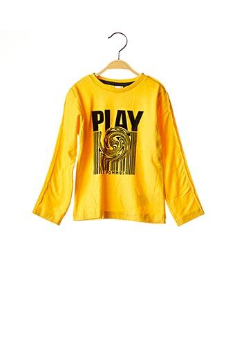 T-shirt manches longues jaune 3 POMMES pour garçon