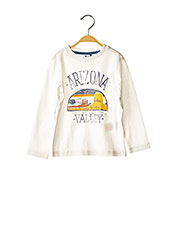 T-shirt manches longues blanc 3 POMMES pour garçon seconde vue
