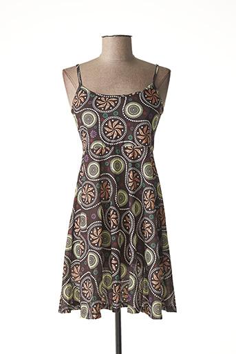 Robe courte marron DIPAWALI pour femme