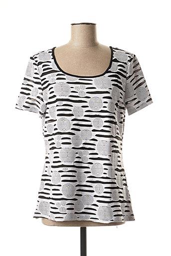 T-shirt manches courtes blanc FOSBY pour femme