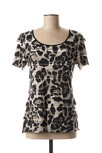 T-shirt manches courtes gris FOSBY pour femme