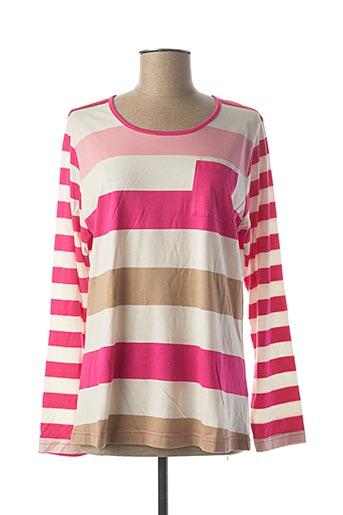 T-shirt manches longues rose JENSEN pour femme
