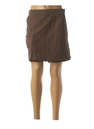 Jupe short marron FUSALP pour femme