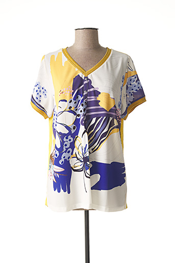 T-shirt manches courtes jaune BAGORAZ pour femme