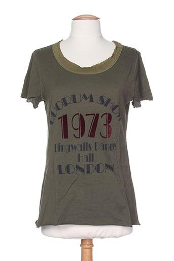 T-shirt manches courtes vert ERIKA CAVALLINI pour femme