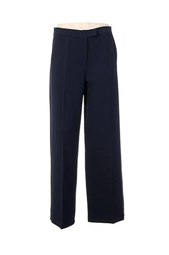 Pantalon chic bleu LA FEE MARABOUTEE pour femme