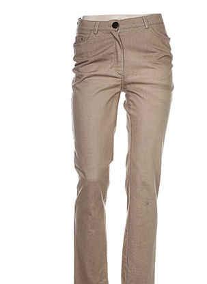 Pantalon casual beige WEINBERG pour femme