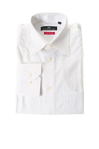 Chemise manches longues blanc BALENCIAGA pour homme