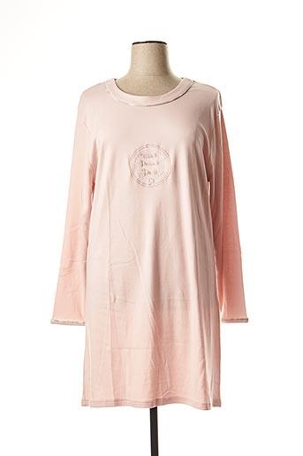 Chemise de nuit rose ARY & BELLE pour femme