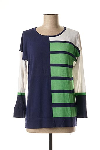 Pull col rond vert MARBLE pour femme