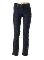 Jeans coupe droite bleu AGATHE & LOUISE pour femme seconde vue