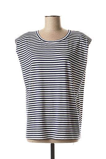 T-shirt manches courtes bleu ADILYNN pour femme