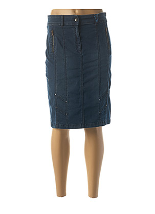 Jupe mi-longue bleu QUATTRO pour femme