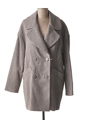 Manteau long gris C.MISSARO pour femme