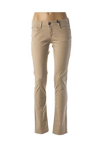 Jeans coupe slim beige CIMARRON pour femme
