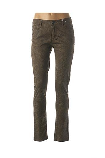 Pantalon casual vert I.CODE (By IKKS) pour femme
